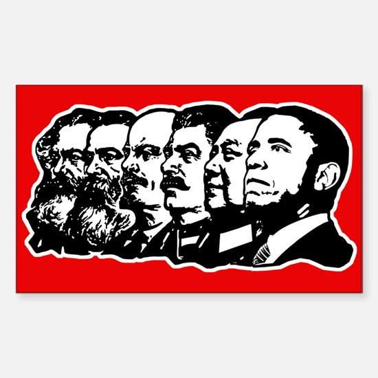 Obama the Communist Sticker (Rectangle)