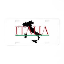 Italia: Italian Boot Aluminum License Plate
