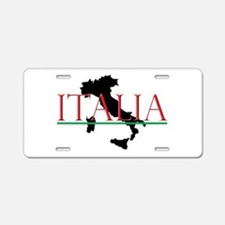 Italia: Italian Boot Aluminum License Plate