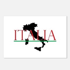 Italia: Italian Boot Postcards (Package of 8)