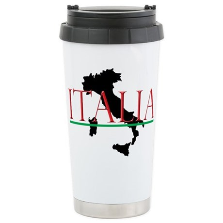 Italia: Italian Boot Stainless Steel Travel Mug