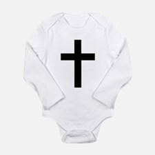 Holy Christian Cross Long Sleeve Infant Bodysuit