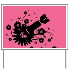 Pink Flower Bomb Yard Sign