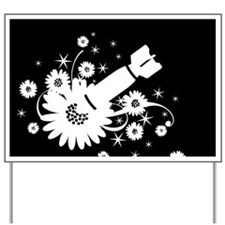 Flower Bomb Graphic Yard Sign