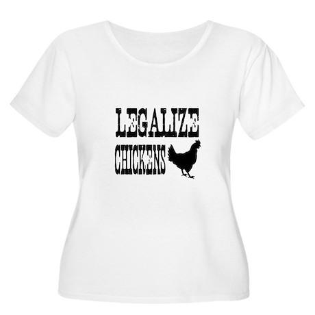 Legalize Chickens Women's Plus Size Scoop Neck T-S