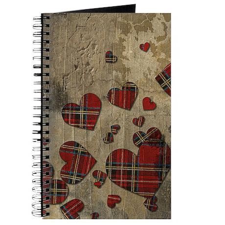 Punk Plaid Hearts Journal