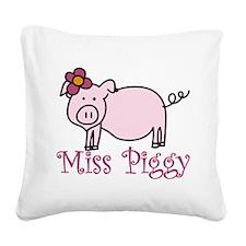 Miss Piggy Square Canvas Pillow