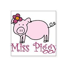 """Miss Piggy Square Sticker 3"""" x 3"""""""