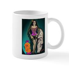 Latina Muertos Pin-up in Long Black Veil Mug