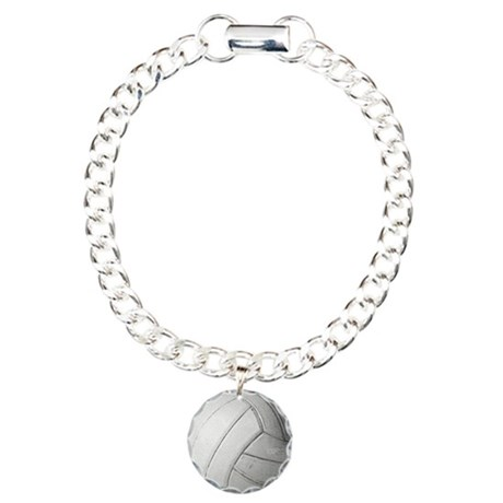 Simply Volleyball Charm Bracelet, One Charm