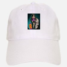 Latina Muertos Pin-up in Long Black Veil Baseball Baseball Cap