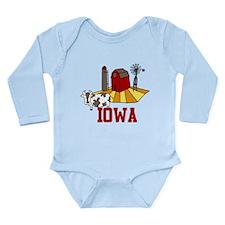 Iowa Long Sleeve Infant Bodysuit