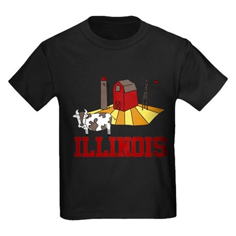 Illinois Kids Dark T-Shirt