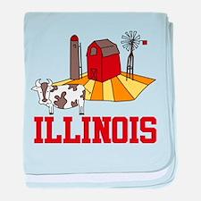 Illinois baby blanket