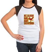 Rooster Alarm Clock Women's Cap Sleeve T-Shirt