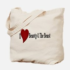 Beauty and The Beast Heart Design Tote Bag
