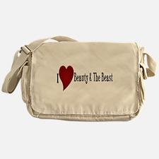 Beauty and The Beast Heart Design Messenger Bag