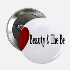 "Beauty and The Beast Heart Design 2.25"" Button"
