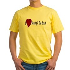 Beauty and The Beast Heart Design T