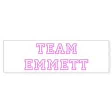 Pink team Emmett Bumper Bumper Sticker