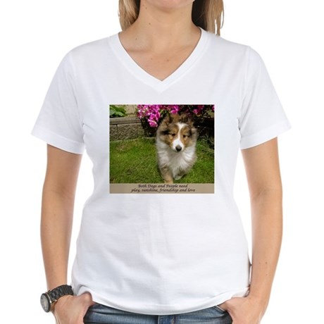 Dogs and People Women's V-Neck T-Shirt