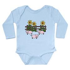 Oink Oink Long Sleeve Infant Bodysuit