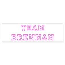 Pink team Brennan Bumper Bumper Sticker