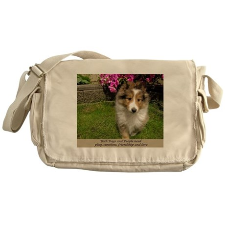 Dogs and People Messenger Bag