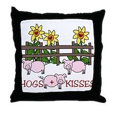Hogs + Kisses Throw Pillow