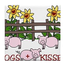 Hogs + Kisses Tile Coaster