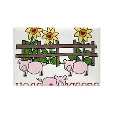 Hogs + Kisses Rectangle Magnet