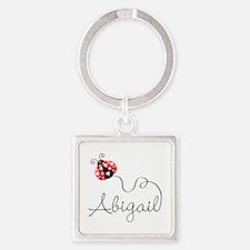 Ladybug Abigail Square Keychain