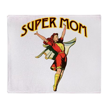 Super Mom Throw Blanket