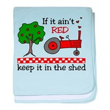 Keep it in the Shed baby blanket