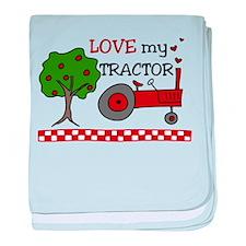 Love My Tractor baby blanket
