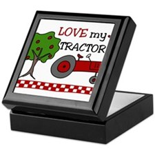Love My Tractor Keepsake Box