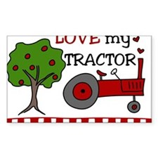 Love My Tractor Decal
