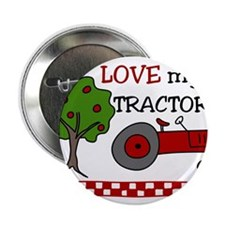 """Love My Tractor 2.25"""" Button"""