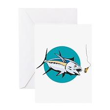 Albacore Tuna Fish Retro Greeting Card