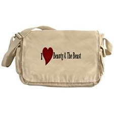 Beauty and The Beast Heart Messenger Bag