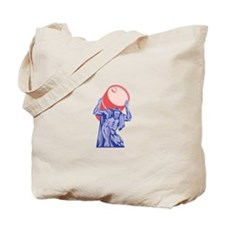 Atlas Carrying Barrel Drum of Oil Retro Tote Bag