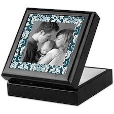 Custom Photo Damask Frame Keepsake Box