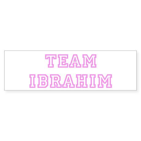 Pink team Ibrahim Bumper Sticker