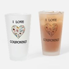 I LOVE COUPONING! Drinking Glass