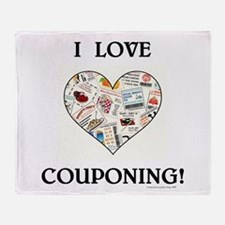I LOVE COUPONING! Throw Blanket