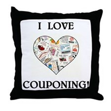 I LOVE COUPONING! Throw Pillow