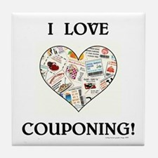 I LOVE COUPONING! Tile Coaster