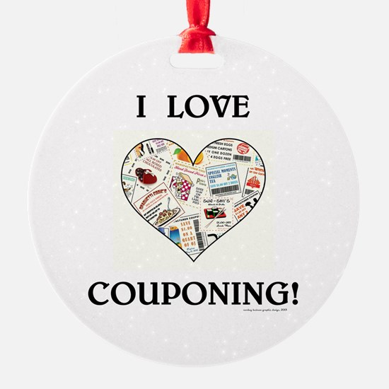 I LOVE COUPONING! Ornament