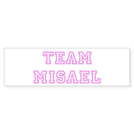 Pink team Misael Bumper Sticker