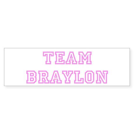 Pink team Braylon Bumper Sticker